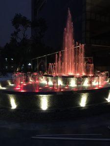 đài phun nước tại đại học thương mại hà nội